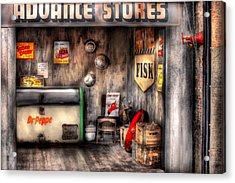 Garage - Advance Stores  Acrylic Print by Mike Savad