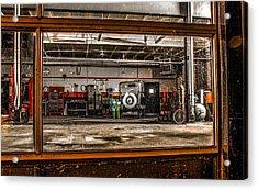 Garage Window Acrylic Print by Ray Congrove