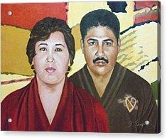 Garcia Family Portrait  Retrato De La Pareja Garca Acrylic Print by Fernando A Hernandez