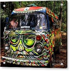 Garcia Vw Bus Acrylic Print by Angela Murray