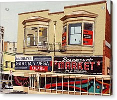 Garcia Y Vega And Paramount Market Acrylic Print by Paul Guyer
