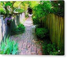 Garden Alley Acrylic Print by Brian Wallace