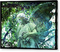 Garden Angel - Divine Messenger Acrylic Print by Absinthe Art By Michelle LeAnn Scott