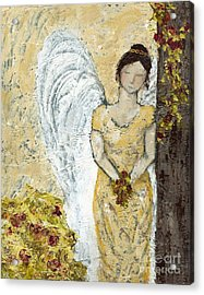 Garden Angel Acrylic Print by Kirsten Reed