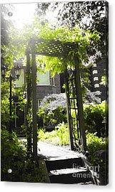Garden Arbor In Sunlight Acrylic Print