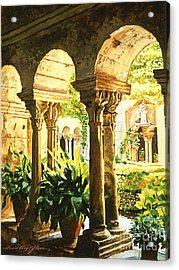 Garden At Saint Remy Provence Acrylic Print by David Lloyd Glover