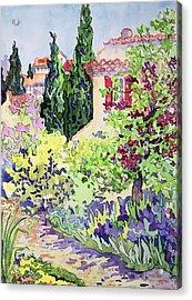 Garden At Vaison Acrylic Print by Julia Gibson