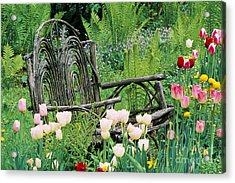 Acrylic Print featuring the photograph Garden Bench by Alan L Graham