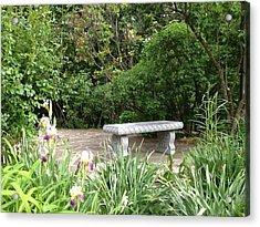 Garden Bench Acrylic Print by Pema Hou