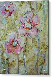 Acrylic Print featuring the painting Garden Bliss by Mary Wolf