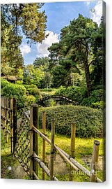 Garden Bridge Acrylic Print by Adrian Evans