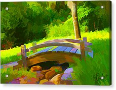 Garden Bridge Acrylic Print by Gerry Robins