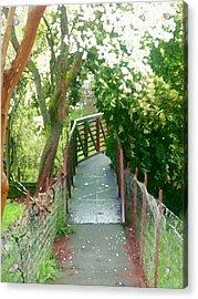 Garden Bridge Acrylic Print by Tamyra Crossley