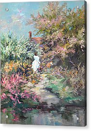 Garden By The Water Acrylic Print by Steven Nevada