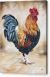 Garden Center's Rooster Acrylic Print by Ilse Kleyn