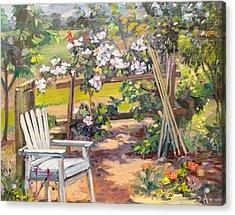 Garden Corner Acrylic Print by Dominique Amendola
