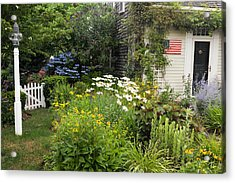 Garden Cottage Acrylic Print by Bill Wakeley