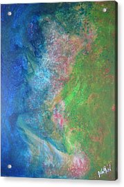 Acrylic Print featuring the painting Garden Dreams by John Fish