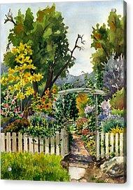 Garden Gate Acrylic Print by Anne Gifford