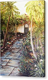 Garden Gate To Rosemary's Cottage Acrylic Print