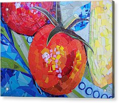 Garden Harvest Collage Detail Acrylic Print by Shawna Rowe