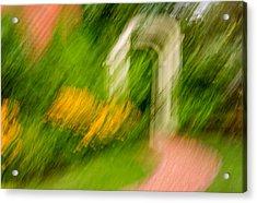 Garden Impression Acrylic Print by Steve Harrington