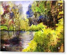 Garden Lake Acrylic Print