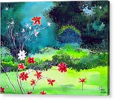Garden Magic Acrylic Print by Anil Nene