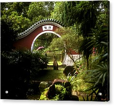 Acrylic Print featuring the photograph Garden Moon Gate 21e by Gerry Gantt
