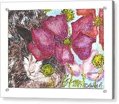 Garden Nap Acrylic Print