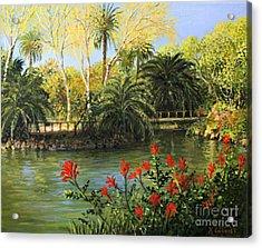 Garden Of Eden Acrylic Print by Kiril Stanchev