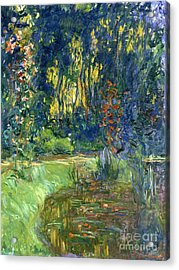 Garden Of Giverny Acrylic Print by Claude Monet