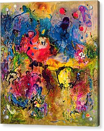 Garden Of Heavenly And Earthly Delights Acrylic Print by Jane Deakin