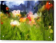 Acrylic Print featuring the photograph Garden Of Poppies by Linde Townsend