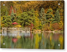 Acrylic Print featuring the photograph Garden Of Reflection by Sebastian Musial