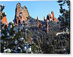 Acrylic Print featuring the photograph Garden Of The Gods After Snow Colorado Landscape by Jon Holiday