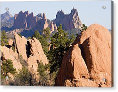 Garden Of The Gods And Red Rocks Open Space Acrylic Print