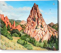 Kindergarten Rock - Garden Of The Gods Acrylic Print
