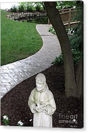 Acrylic Print featuring the photograph Garden Path St. Francis by Lyric Lucas