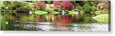Garden Pond Acrylic Print by Oscar Gutierrez