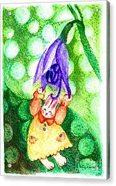 Garden Rabbit-2 Hosta Acrylic Print by Vin Kitayama