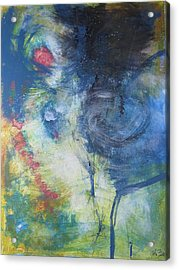 Acrylic Print featuring the painting Garden Rainbow Reflection by John Fish