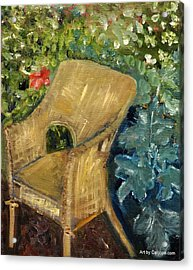 Garden Reading Chair Acrylic Print
