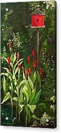 Garden Reds Acrylic Print by Carla Dabney