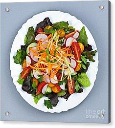 Garden Salad Acrylic Print by Elena Elisseeva
