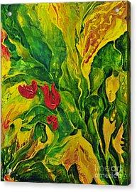 Garden Series No.2 Acrylic Print by Teresa Wegrzyn