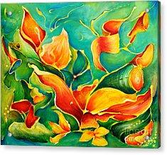 Garden Series No.3 Acrylic Print by Teresa Wegrzyn