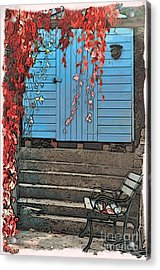 Garden Shed Acrylic Print by Paul Stevens