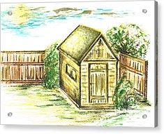 Garden Shed Acrylic Print by Teresa White