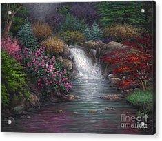 Garden Spring Acrylic Print by Chuck Pinson